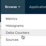Screenshot showing Browse > Delta Counters