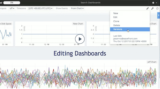 editing dashboards