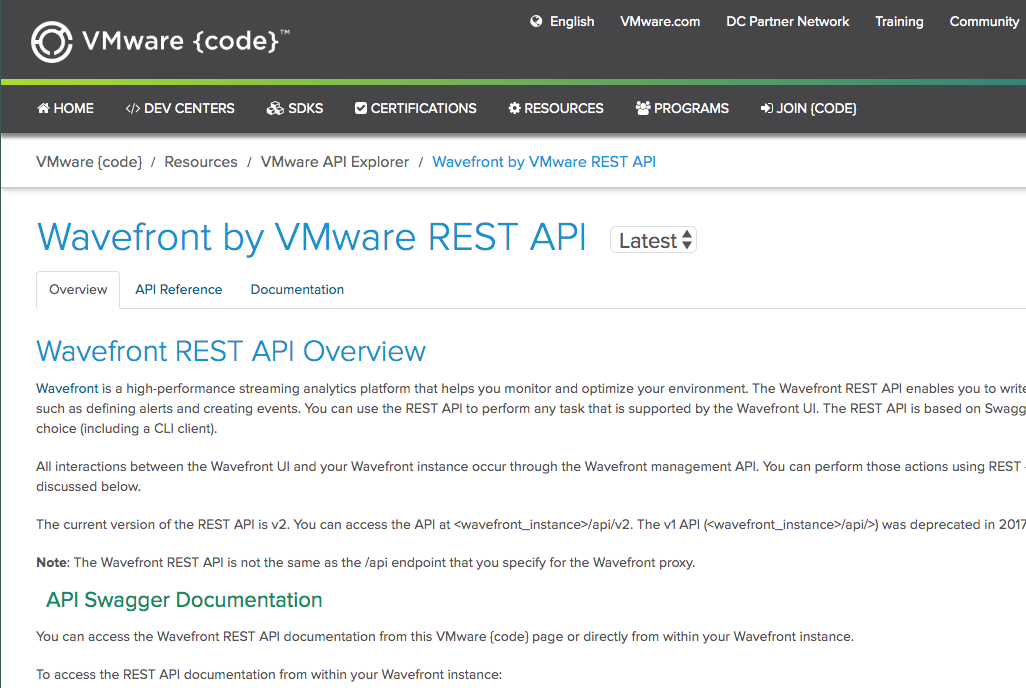 REST API in VMware code